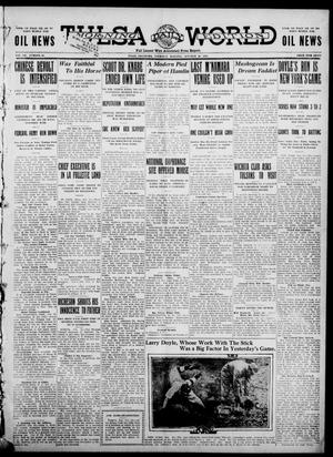 Primary view of object titled 'Tulsa Daily World (Tulsa, Okla.), Vol. 7, No. 33, Ed. 1 Thursday, October 26, 1911'.