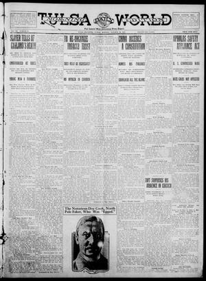 Primary view of object titled 'Tulsa Daily World (Tulsa, Okla.), Vol. 7, No. 36, Ed. 1 Tuesday, October 31, 1911'.
