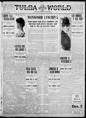 Primary view of object titled 'Tulsa Daily World (Tulsa, Okla.), Vol. 7, No. 66, Ed. 1 Sunday, December 3, 1911'.