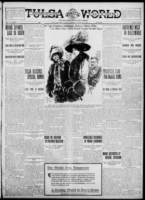 Primary view of object titled 'Tulsa Daily World (Tulsa, Okla.), Vol. 7, No. 71, Ed. 1 Saturday, December 9, 1911'.