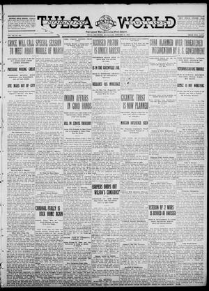 Primary view of object titled 'Tulsa Daily World (Tulsa, Okla.), Vol. 7, No. 104, Ed. 1 Wednesday, January 17, 1912'.