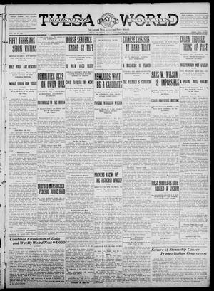 Primary view of object titled 'Tulsa Daily World (Tulsa, Okla.), Vol. 7, No. 106, Ed. 1 Friday, January 19, 1912'.
