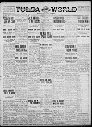 Primary view of object titled 'Tulsa Daily World (Tulsa, Okla.), Vol. 7, No. 108, Ed. 1 Sunday, January 21, 1912'.