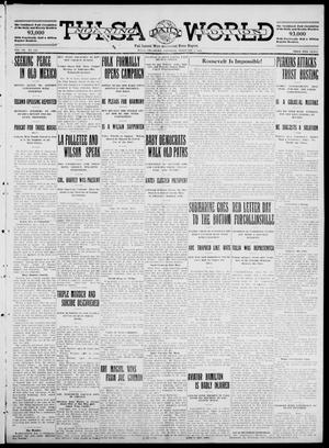 Primary view of object titled 'Tulsa Daily World (Tulsa, Okla.), Vol. 7, No. 119, Ed. 1 Saturday, February 3, 1912'.