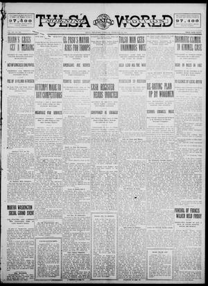Primary view of object titled 'Tulsa Daily World (Tulsa, Okla.), Vol. 7, No. 137, Ed. 1 Saturday, February 24, 1912'.