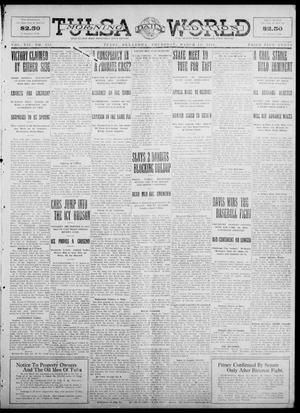 Primary view of object titled 'Tulsa Daily World (Tulsa, Okla.), Vol. 7, No. 153, Ed. 1 Thursday, March 14, 1912'.