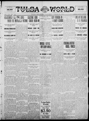Primary view of object titled 'Tulsa Daily World (Tulsa, Okla.), Vol. 7, No. 161, Ed. 1 Saturday, March 23, 1912'.