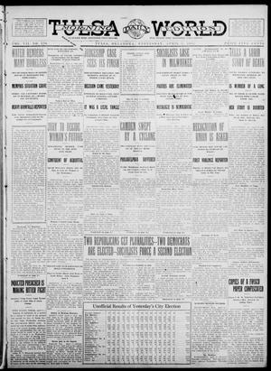 Primary view of object titled 'Tulsa Daily World (Tulsa, Okla.), Vol. 7, No. 170, Ed. 1 Wednesday, April 3, 1912'.