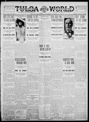 Primary view of object titled 'Tulsa Daily World (Tulsa, Okla.), Vol. 7, No. 183, Ed. 1 Thursday, April 18, 1912'.