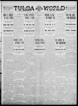 Primary view of object titled 'Tulsa Daily World (Tulsa, Okla.), Vol. 7, No. 189, Ed. 1 Thursday, April 25, 1912'.