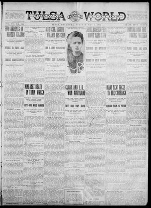 Primary view of object titled 'Tulsa Daily World (Tulsa, Okla.), Vol. 7, No. 199, Ed. 1 Tuesday, May 7, 1912'.