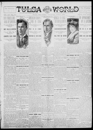 Primary view of object titled 'Tulsa Daily World (Tulsa, Okla.), Vol. 7, No. 225, Ed. 1 Thursday, June 6, 1912'.