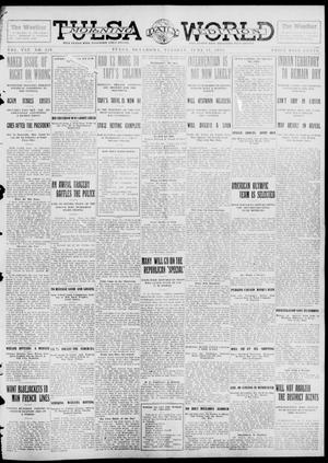 Primary view of object titled 'Tulsa Daily World (Tulsa, Okla.), Vol. 7, No. 229, Ed. 1 Tuesday, June 11, 1912'.