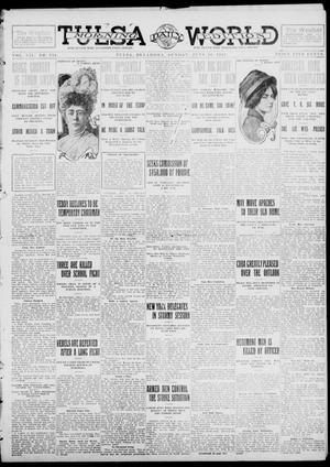 Primary view of object titled 'Tulsa Daily World (Tulsa, Okla.), Vol. 7, No. 234, Ed. 1 Sunday, June 16, 1912'.