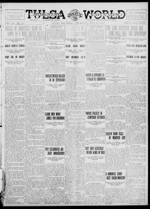 Primary view of object titled 'Tulsa Daily World (Tulsa, Okla.), Vol. 7, No. 237, Ed. 1 Thursday, June 20, 1912'.
