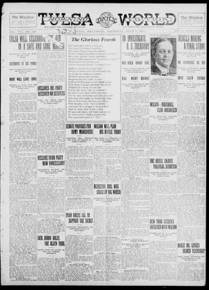 Primary view of object titled 'Tulsa Daily World (Tulsa, Okla.), Vol. 7, No. 249, Ed. 1 Thursday, July 4, 1912'.