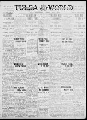 Primary view of object titled 'Tulsa Daily World (Tulsa, Okla.), Vol. 7, No. 251, Ed. 1 Saturday, July 6, 1912'.