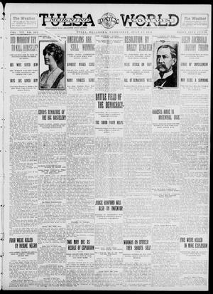 Primary view of object titled 'Tulsa Daily World (Tulsa, Okla.), Vol. 7, No. 263, Ed. 1 Wednesday, July 17, 1912'.