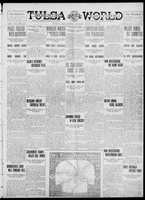 Primary view of object titled 'Tulsa Daily World (Tulsa, Okla.), Vol. 7, No. 265, Ed. 1 Friday, July 19, 1912'.