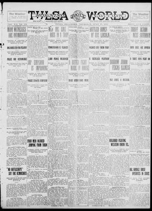 Primary view of object titled 'Tulsa Daily World (Tulsa, Okla.), Vol. 7, No. 270, Ed. 1 Thursday, July 25, 1912'.