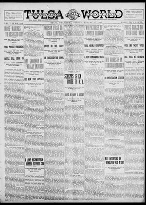 Primary view of object titled 'Tulsa Daily World (Tulsa, Okla.), Vol. 7, No. 289, Ed. 1 Friday, August 16, 1912'.