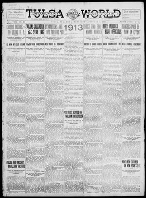 Primary view of object titled 'Tulsa Daily World (Tulsa, Okla.), Vol. 8, No. 93, Ed. 1 Wednesday, January 1, 1913'.