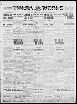 Primary view of object titled 'Tulsa Daily World (Tulsa, Okla.), Vol. 8, No. 99, Ed. 1 Thursday, January 9, 1913'.