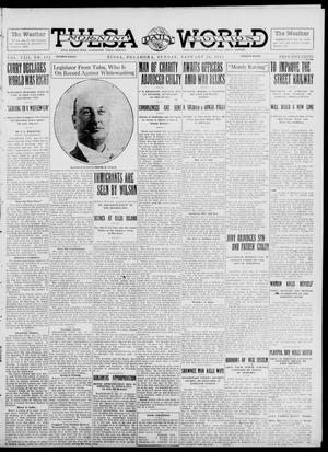 Primary view of object titled 'Tulsa Daily World (Tulsa, Okla.), Vol. 8, No. 114, Ed. 1 Sunday, January 26, 1913'.