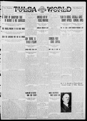 Primary view of object titled 'Tulsa Daily World (Tulsa, Okla.), Vol. 8, No. 130, Ed. 1 Friday, February 14, 1913'.