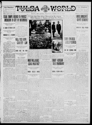 Primary view of object titled 'Tulsa Daily World (Tulsa, Okla.), Vol. 8, No. 139, Ed. 1 Tuesday, February 25, 1913'.