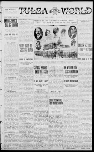 Primary view of object titled 'Tulsa Daily World (Tulsa, Okla.), Vol. 8, No. 147, Ed. 1 Thursday, March 6, 1913'.
