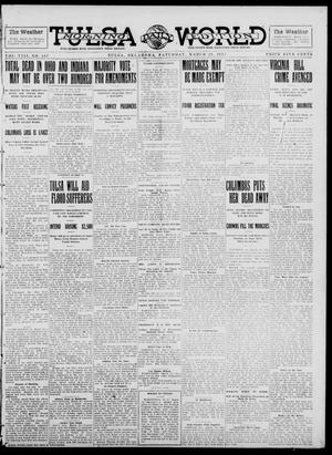 Primary view of object titled 'Tulsa Daily World (Tulsa, Okla.), Vol. 8, No. 167, Ed. 1 Saturday, March 29, 1913'.
