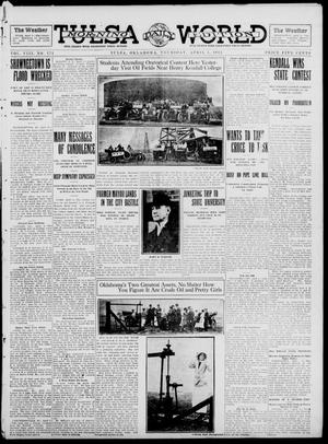 Primary view of object titled 'Tulsa Daily World (Tulsa, Okla.), Vol. 8, No. 171, Ed. 1 Thursday, April 3, 1913'.
