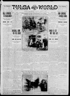 Primary view of object titled 'Tulsa Daily World (Tulsa, Okla.), Vol. 8, No. 172, Ed. 1 Friday, April 4, 1913'.