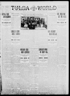 Primary view of object titled 'Tulsa Daily World (Tulsa, Okla.), Vol. 8, No. 176, Ed. 1 Wednesday, April 9, 1913'.