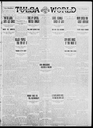 Primary view of object titled 'Tulsa Daily World (Tulsa, Okla.), Vol. 8, No. 184, Ed. 1 Friday, April 18, 1913'.