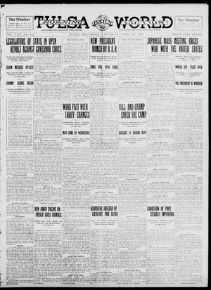 Primary view of object titled 'Tulsa Daily World (Tulsa, Okla.), Vol. 8, No. 185, Ed. 1 Saturday, April 19, 1913'.