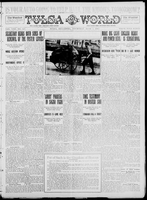 Primary view of object titled 'Tulsa Daily World (Tulsa, Okla.), Vol. 8, No. 225, Ed. 1 Thursday, June 5, 1913'.