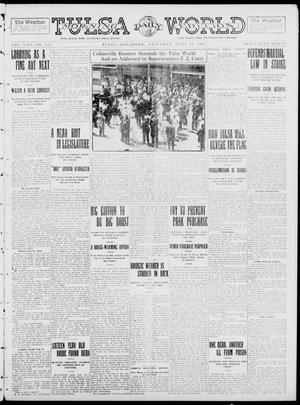 Primary view of object titled 'Tulsa Daily World (Tulsa, Okla.), Vol. 8, No. 233, Ed. 1 Saturday, June 14, 1913'.