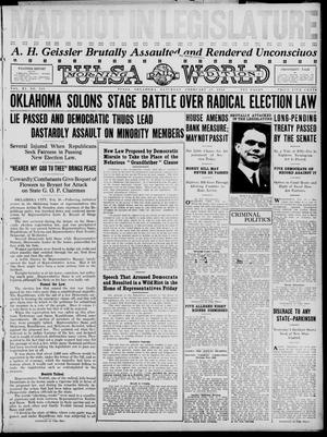 Primary view of object titled 'Tulsa Daily World (Tulsa, Okla.), Vol. 11, No. 133, Ed. 1 Saturday, February 19, 1916'.