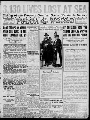 Primary view of object titled 'Tulsa Daily World (Tulsa, Okla.), Vol. 11, No. 145, Ed. 1 Saturday, March 4, 1916'.