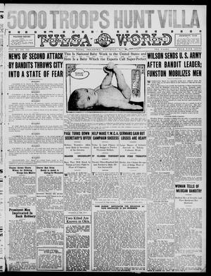 Primary view of object titled 'Tulsa Daily World (Tulsa, Okla.), Vol. 11, No. 151, Ed. 1 Saturday, March 11, 1916'.