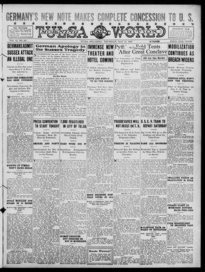 Primary view of object titled 'Tulsa Daily World (Tulsa, Okla.), Vol. 11, No. 203, Ed. 1 Thursday, May 11, 1916'.