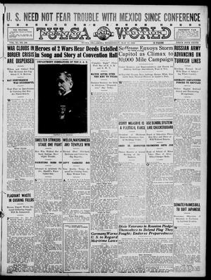 Primary view of object titled 'Tulsa Daily World (Tulsa, Okla.), Vol. 11, No. 208, Ed. 1 Wednesday, May 17, 1916'.