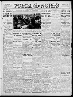 Primary view of object titled 'Tulsa Daily World (Tulsa, Okla.), Vol. 11, No. 307, Ed. 1 Sunday, September 10, 1916'.