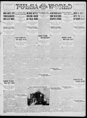 Primary view of object titled 'Tulsa Daily World (Tulsa, Okla.), Vol. 12, No. 8, Ed. 1 Thursday, September 28, 1916'.