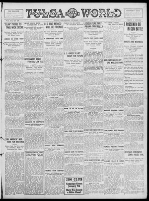 Primary view of object titled 'Tulsa Daily World (Tulsa, Okla.), Vol. 12, No. 109, Ed. 1 Sunday, January 7, 1917'.