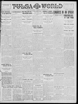 Primary view of object titled 'Tulsa Daily World (Tulsa, Okla.), Vol. 12, No. 111, Ed. 1 Tuesday, January 9, 1917'.