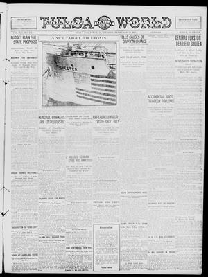 Primary view of object titled 'Tulsa Daily World (Tulsa, Okla.), Vol. 12, No. 153, Ed. 1 Tuesday, February 20, 1917'.