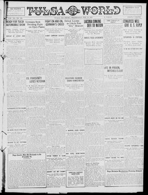Primary view of object titled 'Tulsa Daily World (Tulsa, Okla.), Vol. 12, No. 161, Ed. 1 Wednesday, February 28, 1917'.